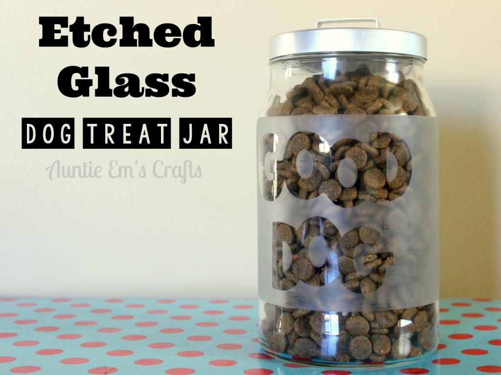 Etched Glass Treat Jar