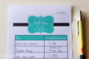 Setting Goals with a Craft Show To Do List