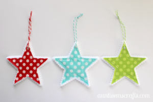 Fabric and Felt Star Ornaments