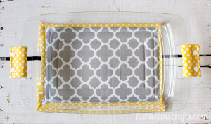 Pick any two fat quarters and some scrap batting and you will have yourself a large hot pad for your casserole dish. This project takes an hour or less. Tutorial by AuntieEmsCrafts.com