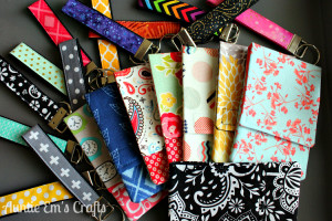 Tampon Pouches and Key Fob Wristlets by AuntieEmsCrafts.com