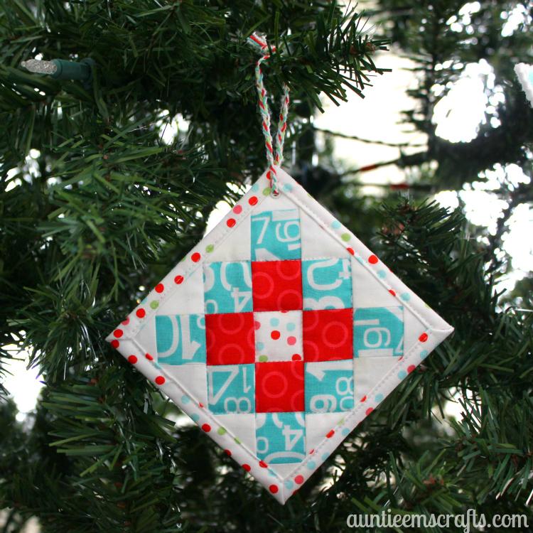Mini Granny Square Ornament {and Coaster}
