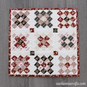 Little House on the Prairie® Granny Square Mini Quilt Tutorial | AuntieEmsCrafts.com