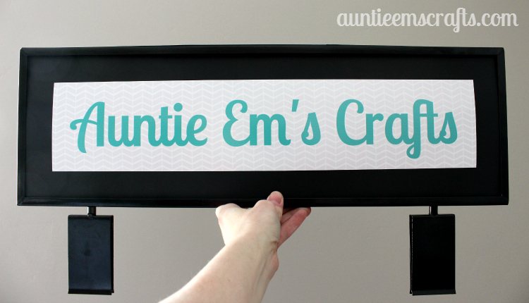 DIY 22×7″ Craft Show Gridwall Sign