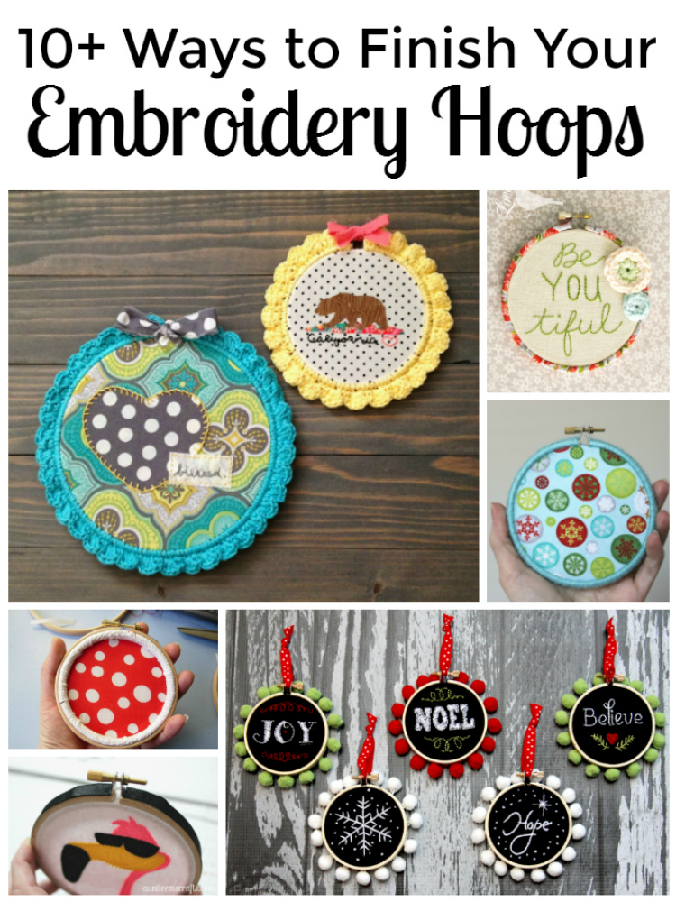 10+ Ways to Finish Your Embroidery Hoops | Auntie Em's Crafts