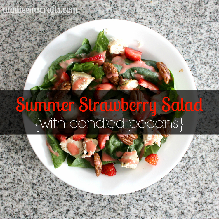 Summer Strawberry Salad with Candied Pecans