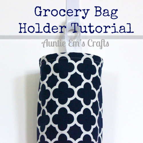 Grocery Bag Holder Tutorial & Clover Giveaway | AuntieEmsCrafts.com