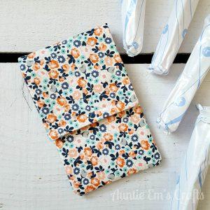 Tampon Pouch Pattern | AuntieEmsCrafts.com
