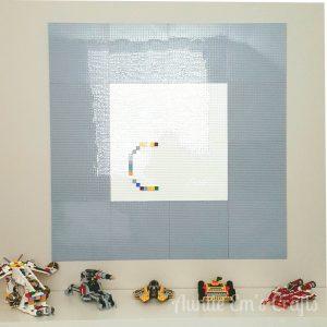 DIY Lego Wall | Auntie Em's Crafts